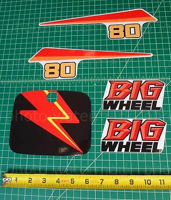 5pc Yamaha 1987 BW80 BIG WHEEL decals stickers graphics kit, used for sale  Shipping to South Africa