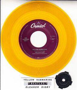 BEATLES  Yellow Submarine & Eleanor Rigby YELLOW VINYL 7