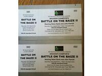 Snooker exhibition tickets Steve Davis John Parrott.