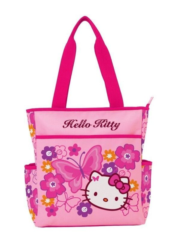 Sanrio Hello Kitty Pink Butterfly Tote Bag