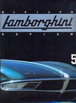 Lamborghini Rivista no.5 350GTV Miura SV Diablo F1 Accessories rare book