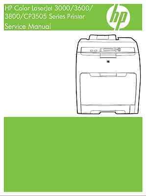 HP Color LaserJet 3000/3600/3800/CP3505 Series - Service Manual PDF ()