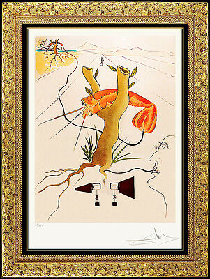 Salvador Dali Color Etching Hand Signed Rare Authentic Artwork Telephone Lobster