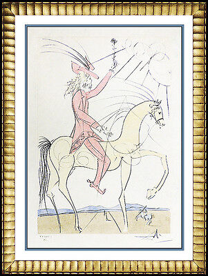Salvador Dali Authentic Etching Hand Signed Cavalier Rose Artwork Field 73-17B