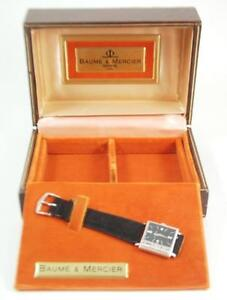 NEW VINTAGE MEN'S BAUME & MERCIER 17JEWEL 14K WATCH w/STRAP~w/BOX~circa 1970's
