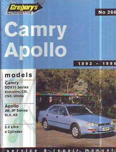TOYOTA CAMRY HOLDEN APOLLO  WORKSHOP  SERVICE MANUAL 1993-96 Sefton Bankstown Area Preview