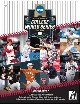 2018 COLLEGE WORLD SERIES PROGRAM CHAMPIONSHIP NCAA Division I Baseball OMAHA