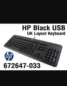 HP KU-1156 USB WIRED BLACK KEYBOARD