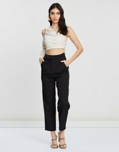 THE ICONIC BLACK TAILORED OLIVER PANTS SIZE: L