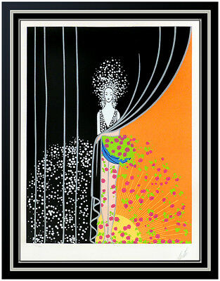 Erte Printemps Original Color Serigraph Hand Signed Art Deco Set Design Art