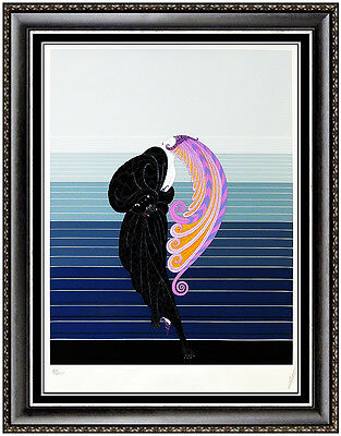 ERTE Original Color Serigraph Beauty And The Beast Dress Design Art Deco Signed
