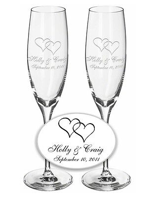 Wedding Champagne Toasting Flutes 1 Pair- Custom ...
