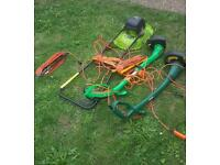 Job lot lawn mower strimmers and extensions