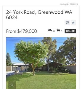3x1 Parkland location Greenwood Greenwood Joondalup Area Preview
