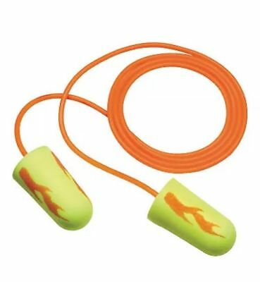 3m Ear Yellow Neon Blasts Disposable Foam Ear Plugs 311-1252 With Cord 50 Pair