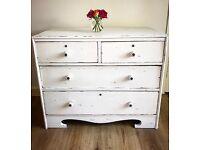 Shabby chic white chest Of Drawers