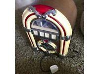 Jukebox radio and cassette player