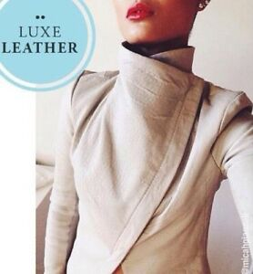 Kookai 100% Leather jacket - Light grey - Size 36  e3738b67f
