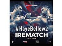 DAVID VS TONY BELLEW REMATCH TICKETS - HEAVYWEIGHT - O2 ARENA - LONDON