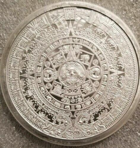 Silver 5 oz Aztec Calendar Round