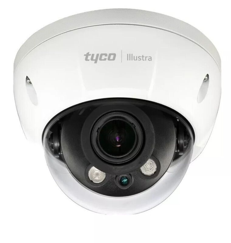 Illustra 2MP IP Varifocal Mini-Dome Camera Outdoor Vandal TDN Essentials POE Ir