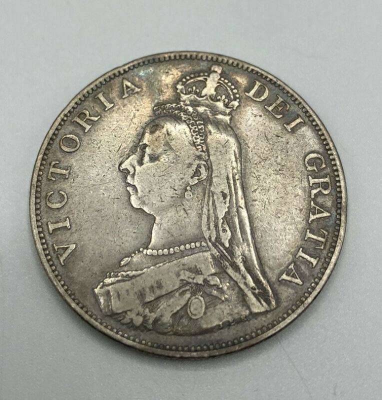 1890 Great Britain Silver 2 Florin-Very Nice Circulated British Coin You Grade