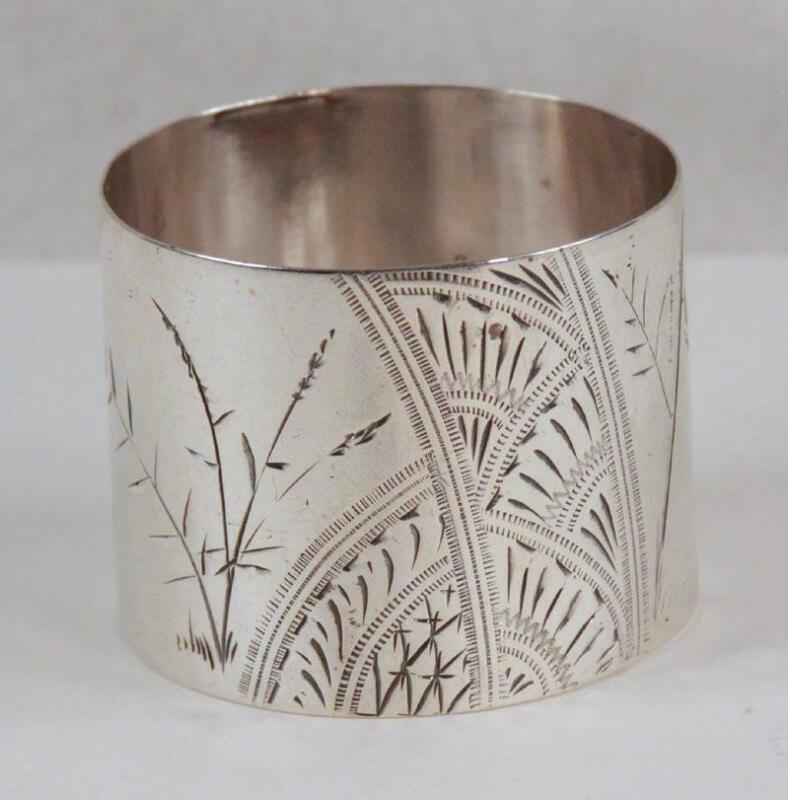 Gorham c 1880 Aesthetic Movement Sterling Silver Napkin Ring