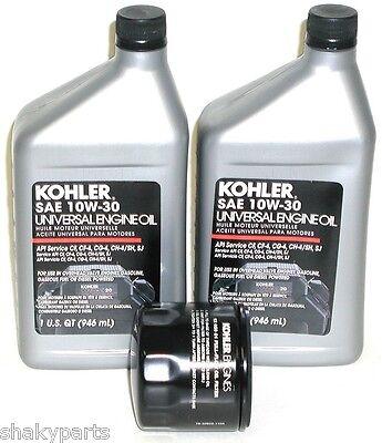 2Qts  Kohler Engine Oil   Oil Filter Kit  2 25 357 06   12 050 01