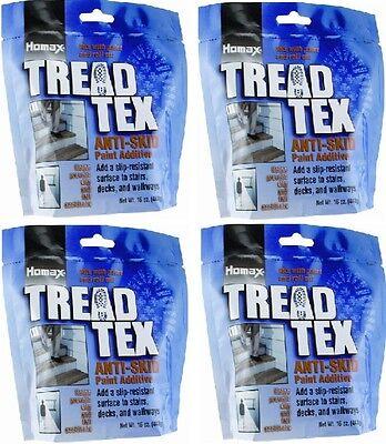 (4) Homax 8600 Tread Tex  1 lb Anti Skid Anti Slip Paint Additive