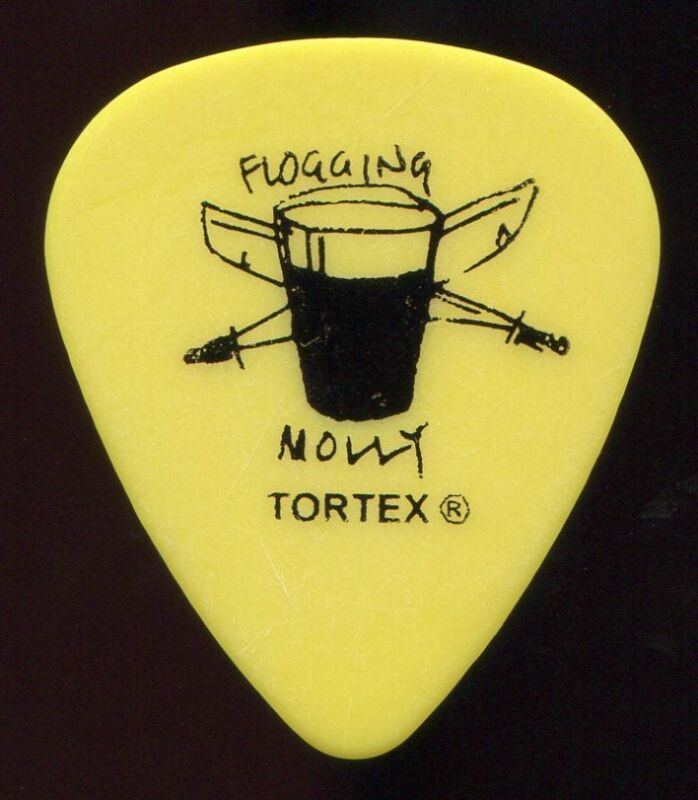 FLOGGING MOLLY 2008 Float Tour Guitar Pick DENNIS CASEY custom concert stage #1