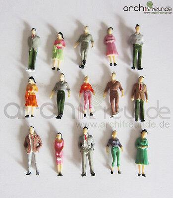 25 x Stehende Figuren für Modellbau 1:50, Modelleisenbahn  Spur 0