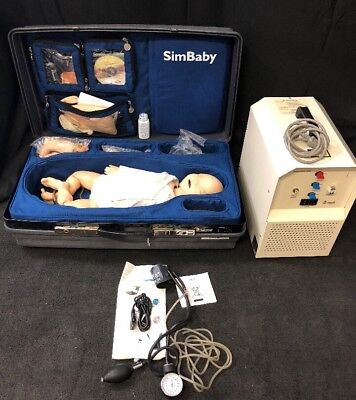 Laerdal Simbaby Training Infant Patient Simulator Wdss 110-2 Compressor See Des