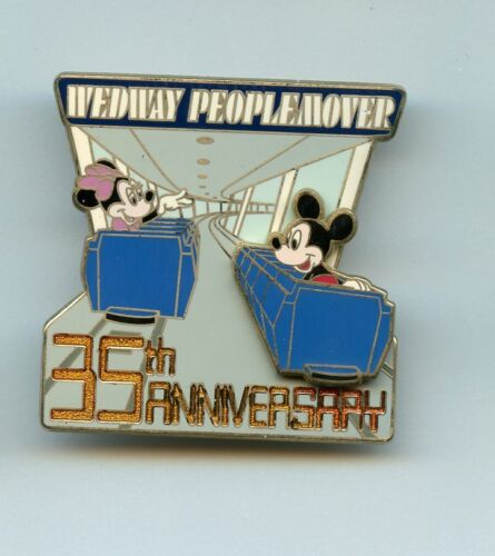 Disney World WEDWay PeopleMover 35th Anniversary Minnie Mickey Slider LE Pin