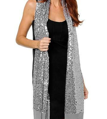 IMAN Sequin Knit Wrap Scarf Sweater Edge 8 COLORS! NEW WITH TAGS 24x80  ()