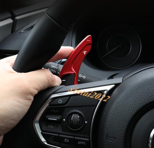 Black Inner Steering Wheel Shift Paddle Shifter Cover For Acura RDX 2019-2021