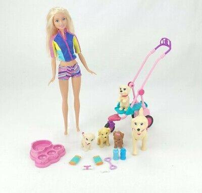 Mattel Barbie Career I Can Be Pet Sitter Dog Walker Doll Play Set!