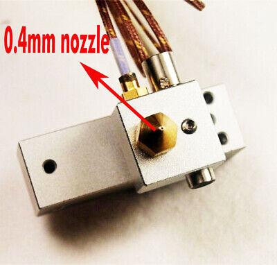 New 0.4mm Makerbot Replicator 2 3d Printer Hot End Print Head Kit Heating Tub
