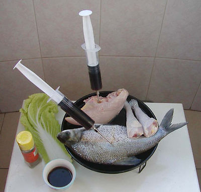 Marinade Injector for Meat Chicken Turkey Fish Syringe Juice Spices Flavor BBQ, used for sale  West Palm Beach