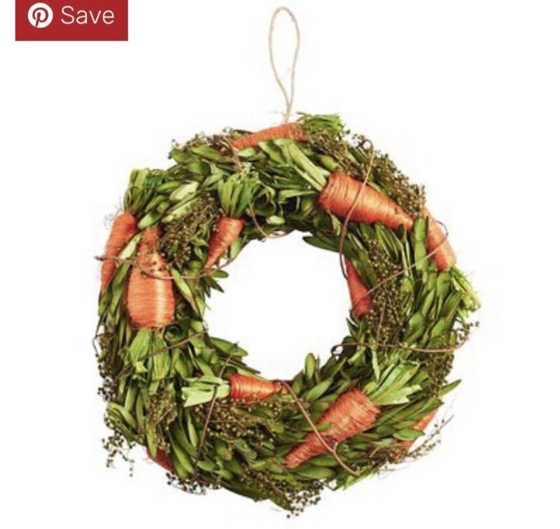 Pier 1 Imports NWT Easter Spring CARROT WREATH