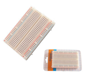 1x-Mini-85-55mm-Universal-Solderless-Breadboard-400-Contacts-Tie-points-good