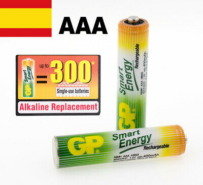 PILAS RECARGABLES AAA BLISTER X 2 GP SMART ENERGY BATERIAS RECARGABLES
