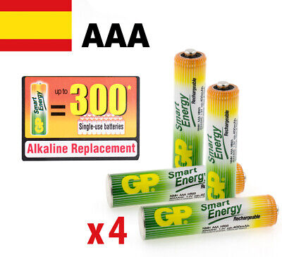 PILAS RECARGABLES AAA BLISTER X 4 GP SMART ENERGY BATERIAS RECARGABLES