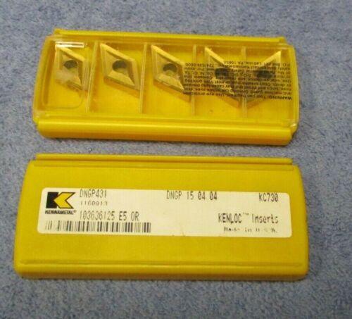 KENNAMETAL    Carbide Inserts    DNGP 431     Grade KC730    Pack Of  5