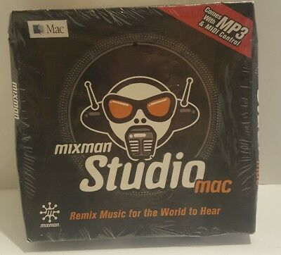 Vintage SEALED NEW Mixman Studio APPLE MAC Remix DJ Mix BEATS MP3 Midi (Remix Dj Software)
