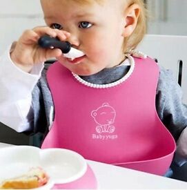 Lovely Baby Infants Kids Cute Silicone Bibs Baby Lunch Bibs Cute Waterproo