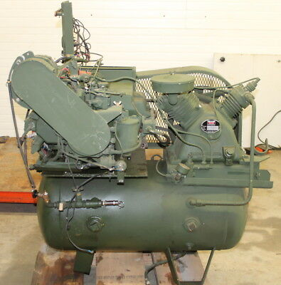 Air Compressor Portable 2 Stage Gas Engine 6hp 15 Cfm 175psi Worthington