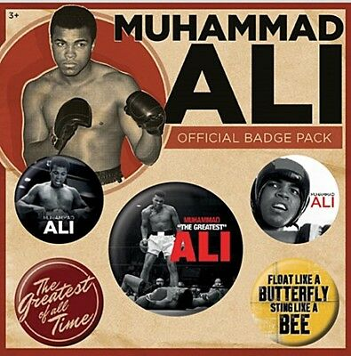 Muhammad Ali  pack of 5 round pin badges    (py)