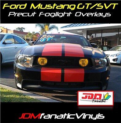 (05-12 Mustang SVT GT Grille Fog Light Yellow Overlays tint film)