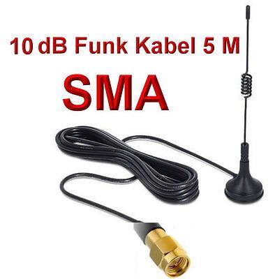 2,4GHz WLAN Antenne 5m Kabel SMA Male für IP Kamera Foscam INSTAR 7links Apexis