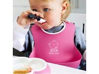 Lovely Baby Infants Kids Cute Silicone Bibs Baby Lunch Bibs Cute Waterproo